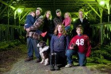 The Kays family, dairy farm owners